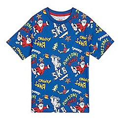 bluezoo - Boys' blue Christmas t-shirt