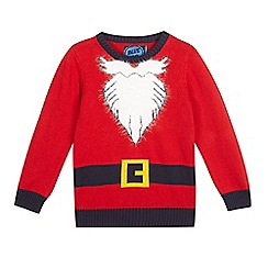 bluezoo - Boys' red Father Christmas jumper