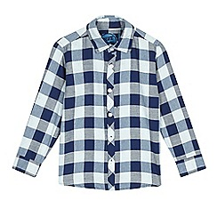 bluezoo - Boys' blue check long sleeve shirt