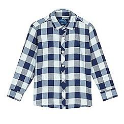 bluezoo - Boys' blue check long sleeve shirt