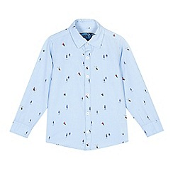 bluezoo - Blue winter print shirt