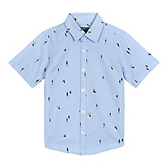 bluezoo - Boys' blue ski shirt