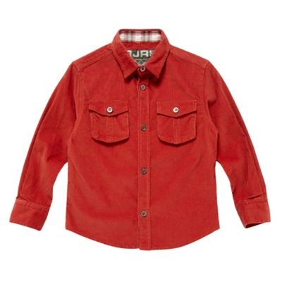 Boys Orange Cord Shirt