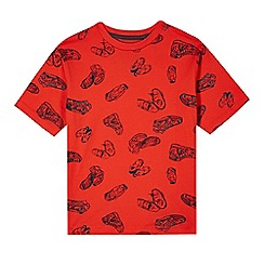 bluezoo - Boy's red trainers print t-shirt