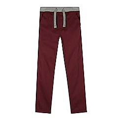 bluezoo - Boy's wine ribbed waist slim leg chinos