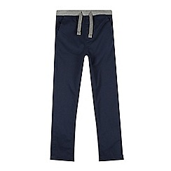 bluezoo - Boy's navy ribbed waist slim leg chinos