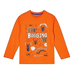 bluezoo - Boy's orange 'Stop bugging me' top