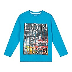 bluezoo - Boy's blue London graphic print top