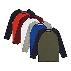 bluezoo - Pack of four boy's navy long sleeved raglan tops