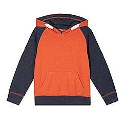 bluezoo - Boy's orange raglan hoodie
