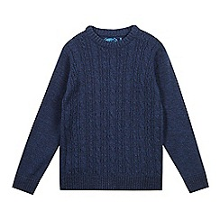 bluezoo - Boys' blue cable knit jumper