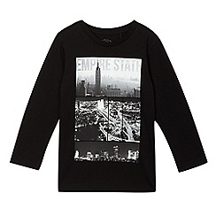 bluezoo - Boys' black 'Empire State' t-shirt