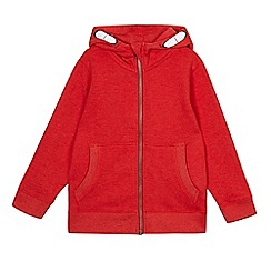 bluezoo - Boys' red zip through hoodie