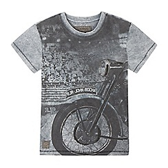 RJR.John Rocha - Boy's grey motorbike graphic t-shirt