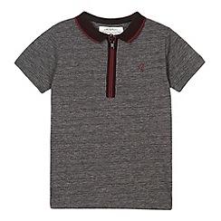 RJR.John Rocha - Designer boy's black textured zip neck polo shirt