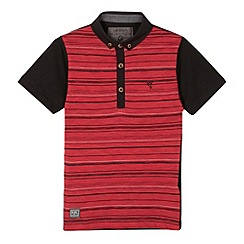 RJR.John Rocha - Designer boy's red broken striped polo shirt