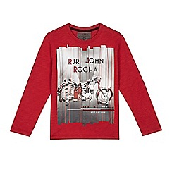 RJR.John Rocha - Boys' red motorcycle top