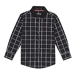 RJR.John Rocha - Boys' black ribbed collar chalk line shirt