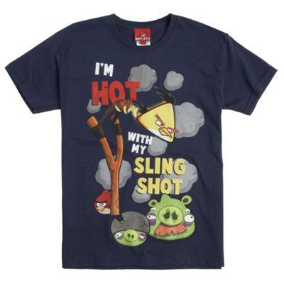Boys blue Angry Birds sling t-shirt