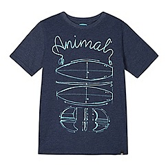 Animal - Boy's navy sketched surfboards t-shirt