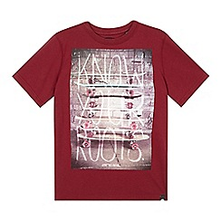 Animal - Boy's maroon skateboards graphic t-shirt