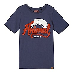 Animal - Boy's navy applique logo t-shirt