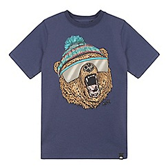 Animal - Boy's navy bear face print t-shirt