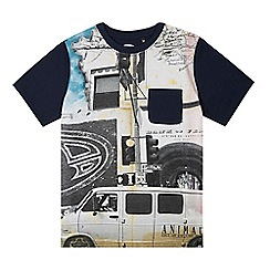 Animal - Boy's navy city map graphic t-shirt