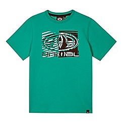Animal - Boy's green graphic logo t-shirt