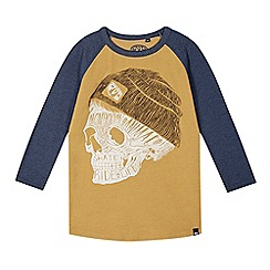 Animal - Boy's navy skull graphic raglan top