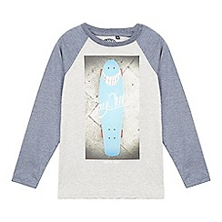 Animal - Boy's grey 'Say Cheese' skateboard raglan top