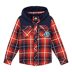 Animal - Boys' red checked shirt jacket