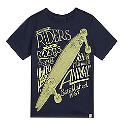 Animal - Boys' navy skateboard t-shirt