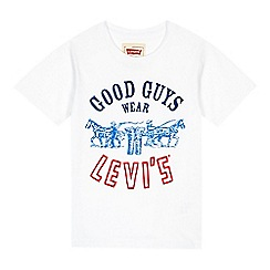 Levi's - Boy's white slogan t-shirt