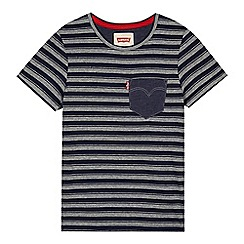 Levi's - Boy's striped navy t-shirt