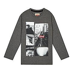 Levi's - Boy's grey photo print t-shirt