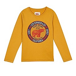Levi's - Boy's yellow long sleeve bear top