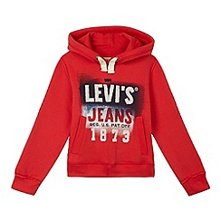 Levi's - Boys' red graphic logo hoodie