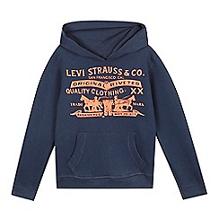 Levi's - Boys' navy hoodie