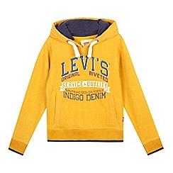 Levi's - Boys' dark yellow hoodie