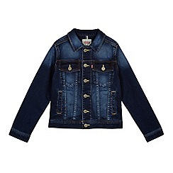 Levi's - Boy's blue fleece denim jacket