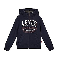 Levi's - Boy's navy borg lined hoodie