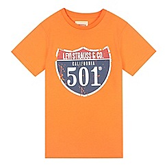Levi's - Boy's bright orange California t-shirt