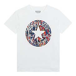Converse - Boy's white chuck patch t-shirt