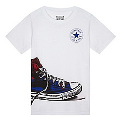 Converse - Boy's white shoe design t-shirt