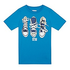 Converse - Boys' blue trainer graphic t-shirt