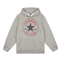 Converse - Boy's grey pull over hoodie