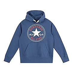 Converse - Boy's navy pull over hoodie