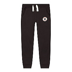 Converse - Boy's black slim jogging bottoms