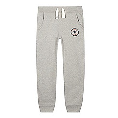 Converse - Boy's grey slim jogging bottoms